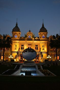 The famous Monte Carlo casino of Monaco