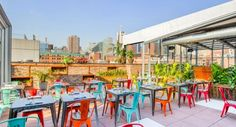 """Tequila cocktails, mezcal, dancing and """"modern Mexican cuisine"""" are promised at Cantina Rooftop this spring and summer. Add sweeping views to the mix and you're sure to have a fun-filled evening above Hell's Kitchen."""
