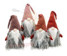 34cm Cuddly Santa Gonk Indoor Christmas Decoration for Mantlepiece etc