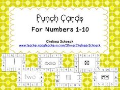 Punch Cards for Numbers 1-10