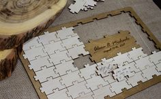 Puzzle guestbookWedding puzzle guest bookGuest book