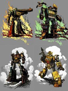 Steampunk Transformers - http://www.deviantart.com/art/steampunk-soundwave-319893013