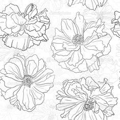 floral drawing - Google-søgning
