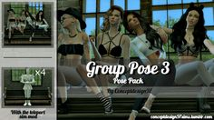 Lana CC Finds - conceptdesign97sims: (TS4) Group Pose 3 - Pose...