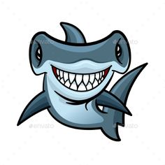 Buy Happy Cartoon Hammerhead Shark Character by VectorTradition on GraphicRiver. Happy voracious cartoon hammerhead shark with charming smile of lethal sharp teeth. Funny marine animal character for. Hammerhead Shark Tattoo, Shark Tattoos, Cartoon Sea Animals, Cartoon Fish, Cartoon Drawings, Animal Drawings, My Drawings, Vexx Art, Marines Funny