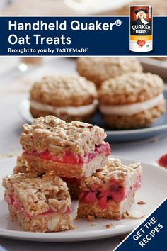 Whether you're baking up a homemade batch of apple oatmeal cream pies, strawberry almond apple oat bars or blueberry oat muffins, Quaker® Oats has just the afternoon treat your whole family is sure to love!