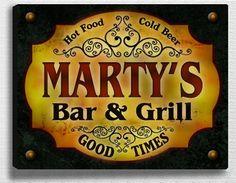 Marty Family Bar & Grill Stretched Canvas Print ZuWEE http://www.amazon.com/dp/B00L9W7DCG/ref=cm_sw_r_pi_dp_hlcrub0YMG38P