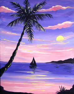 Join us for a Paint Nite event Sun Oct 2016 at 11909 democracy dr reston, VA. Purchase your tickets online to reserve a fun night out! Cute Canvas Paintings, Easy Canvas Art, Small Canvas Art, Easy Canvas Painting, Mini Canvas Art, Simple Acrylic Paintings, Acrylic Painting Canvas, Watercolor Illustration, Watercolor Art