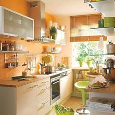 Orange Kitchen White Cabinets burnt orange kitchen | future house! | pinterest | orange, orange