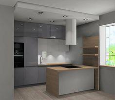 Interior Design Living Room, Modern Interior, Living Room Designs, Kitchen Room Design, Kitchen Decor, Small Apartment Kitchen, House Design, Interiordesign, Decoration