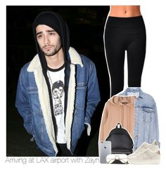 """""""Arriving at LAX airport with Zayn"""" by swaggxdirection ❤ liked on Polyvore featuring Pull&Bear, Yves Saint Laurent and NIKE"""