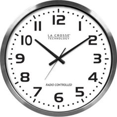 La Crosse Technology 404-1220 Indoor Atomic Wall Clock, Atomic time with manual setting, Automatically sets to exact time, Accurate to the second, Automatically updates for daylight saving time - on/off option, 4 time zone settings, After signal is r