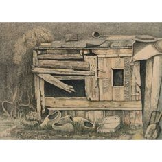 Kippenhok van Durk Feenstra. Ik ben begonnen met schilderen, net zoals ik begonnen ben met ademhalen.  Zonder dat ik me er van bewust was.  Het is gewoon een drang, van binnenuit.  Net als eten en drinken.