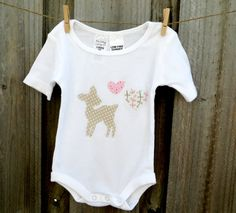 Hey, I found this really awesome Etsy listing at https://www.etsy.com/listing/180489213/baby-girl-little-deer-onesie