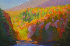 "Contemporary Painting - ""Adirondack Stream"" (Original Art from Brian Kiernan)"
