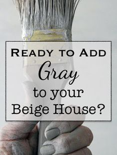 Ready to Add Some Gray to Your Beige House? Have you recently been thinking about adding a little gray to your beige house? What's the best gray paint to pair with your beige walls? I'm so glad you asked! Paint Color Schemes, Grey Paint Colors, Paint Colors For Living Room, Paint Colors For Home, Room Colors, Gray Beige Paint, Accent Colors, Popular Paint Colors, Neutral Paint