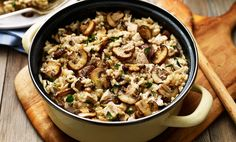 Mushroom and roasted chicken risotto