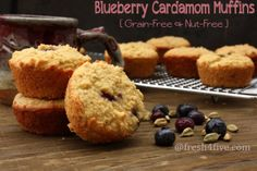 Blueberry Cardamom Muffins Recipe - RecipeChart.com #Breakfast #Desserts #Snack