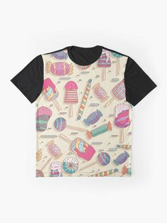 """""""Candy Sweets Pattern """" T-shirt by embedshop 