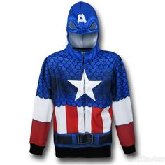 2d3aadc2054 Captain America Lightweight Sublimated Costume Hoodie