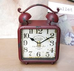 skl5001 {19,50 €} επιτραπέζιο ρολόι με σχέδιο παλαίωσης (14x22x6 εκ.)