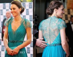 Gorgeous Kate.  Love the braided updo and her pretty dress too!