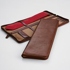 Executive Leather Tie + Accessories Case