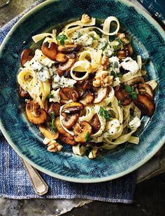 Mushroom and thyme tagliatelle. Not a massive fan of mushrooms but this looks tasty.