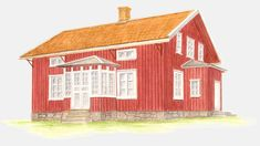 Swedish Cottage, Swedish House, Swedish Style, Scandinavian Design, Countryside, Building A House, Gazebo, Shed, Floor Plans