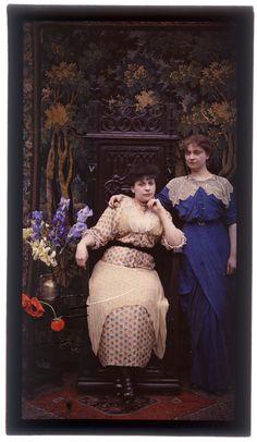 Autochromes: Fernand Arloing,  Portrait of Renée and Alice Picard. 1914-1919. Bibliotèque municipale de Lyon.