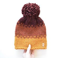 Crochet Hats Patterns Autumn Ombré Hat Knitting pattern by Kathleen Jones - Size: Adult For this pattern you will need: 3 colors of super bulky weight yarn circular needles, or double pointed needles See more See less Christmas Knitting Patterns, Knitting Patterns Free, Crochet Patterns, Loom Hats, Crochet Cap, Paintbox Yarn, Arm Knitting, Knitting Projects, Knitted Hats