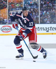 Kevin Hayes of the New York Rangers skates against the Buffalo Sabres  during the 2018 Bridgestone NHL Winter Classic at Citi Field on January 2018  in New ... 827cb0a40