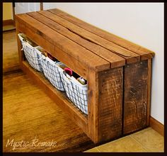 Mystic Remake | Creatively Inspired Home: Made From Scrap - Storage Bench