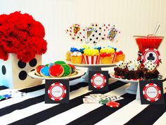 Casino party display ideas