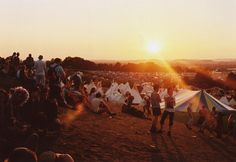 Ahhh summer music fesivals -- I spy teepees. (Glastonbury 2011)
