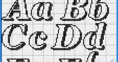 Mais gráficos de monogramas! Da talentosa Melinalupa, obrigada por compartilhar seus dons divinos! beijinhos! Cross Stitching, Cross Stitch Embroidery, Cross Stitch Patterns, Stitching Patterns, Cross Stitch Alphabet, Needlepoint Patterns, Names, Becca, Carrot