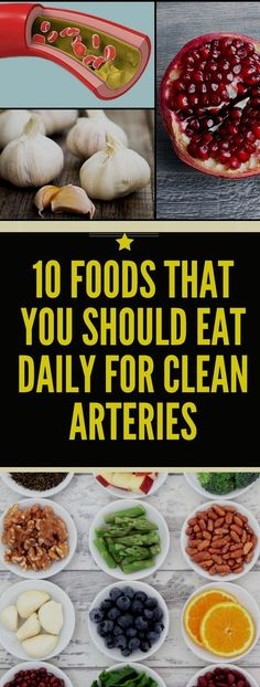 List of 12 Foods You Should Eat Daily for Clean Arteries - Abundator Ketogenic Recipes, Healthy Recipes, Healthy Foods, Health And Wellness, Health Tips, Wellness Tips, Health Fitness, Health Exercise, Clean Arteries