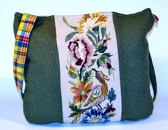 vintage needlepoint brought back to live with this beautiful bag on  friedchensshop.dawanda.com