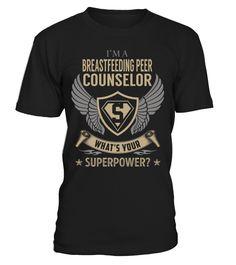 Breastfeeding Peer Counselor Superpower Job Title T-Shirt #BreastfeedingPeerCounselor