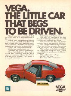 1971 Chevrolet Vega Advertisement Time February 15 1971 – My Wallpapers Page Cars Usa, Us Cars, Chevrolet Vega, Chevy, Vintage Advertisements, Vintage Ads, Vintage Stuff, Car Brochure, Vegas
