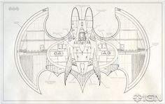 Tim Burton's Batwing Blueprint