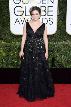 2017 Golden Globes: Celebrity Style From the Red Carpet. Rachel Bloom in Christian Siriano.