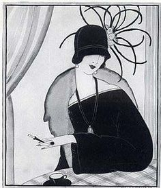 Reboux ad from 1922, illustrated by Helen Dryden