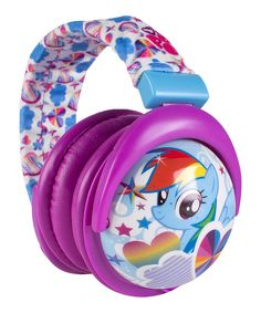 This My Little Pony Fold Stereo Plush Headphones by My Little Pony is perfect! #zulilyfinds