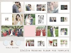 A LA VENTA... Plantilla de PSD de álbum de boda de 12 x 12