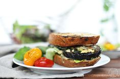 Gegrilltes Melanzani-Sandwich #vegan