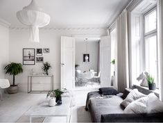 Insert alt text here Kitchen Dining, Dining Rooms, Gallery Wall, Couch, Curtains, Pure Products, Family Rooms, Stockholm, Furniture