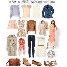 basic wardrobe summer 5 day trip capsule | ... in Paris France, vacation wardrobe, capsule wardrobe, travel wardrobe