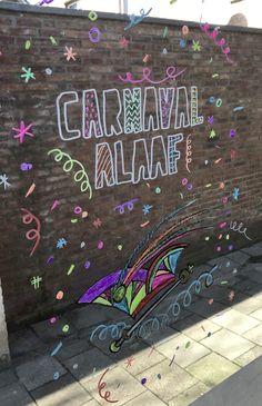 Carnaval alaaf en muts #raamtekening door Dillian K
