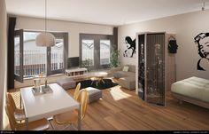 Interior of an apartment - Alleplattegronden